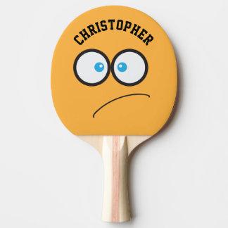 Nom personnalisé par nouveauté jaune drôle de raquette tennis de table