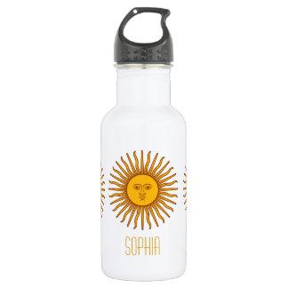 Nom personnalisé par planète jaune d'astrologie de bouteille d'eau
