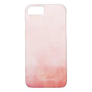 Nom rose de coutume de colorant d'immersion coque iPhone 7