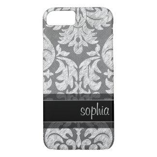 Nom rustique de coutume de motif de dentelle de coque iPhone 7