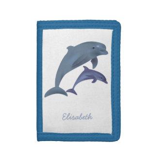 Nom sautant d'illustration de dauphins