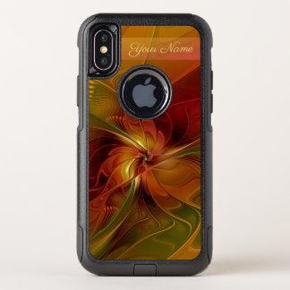 Nom vert orange rouge abstrait d'art de fractale