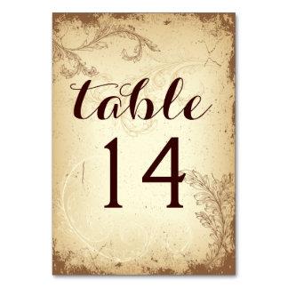 Nombre beige vintage de table de mariage de