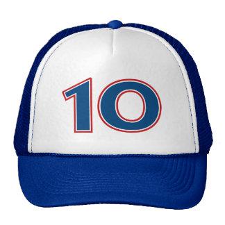 Nombre bleu 10 casquette de camionneur