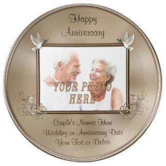 Nombre de cadeaux d'anniversaire de photo assiette en porcelaine