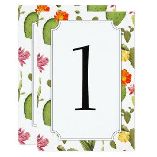 Nombre de floraison de table de mariage de cactus carton d'invitation 8,89 cm x 12,70 cm