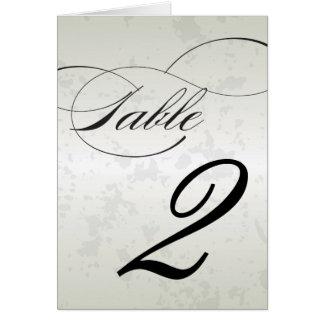 Nombre de Tableau de réception de mariage de Flour Carte De Vœux