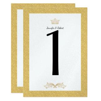 Nombre élégant de Tableau de mariage de monogramme Carton D'invitation 12,7 Cm X 17,78 Cm
