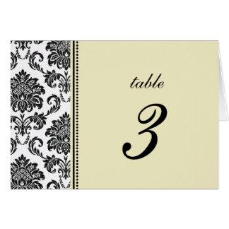 Nombre en ivoire de Tableau de mariage de damassé Carte De Vœux