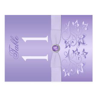 Nombre floral de Tableau de lavande double face Carte Postale