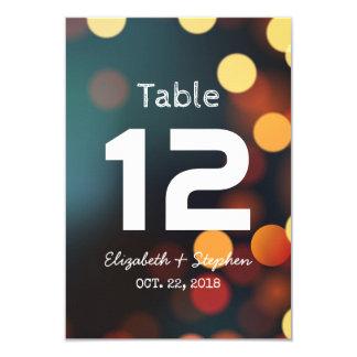 Nombre léger de Tableau d'allocation des places de Carton D'invitation 8,89 Cm X 12,70 Cm