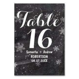 Nombre moderne de table de tableau de flocons de