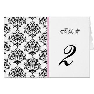 Nombre noir, blanc, et rose de Tableau de mariage