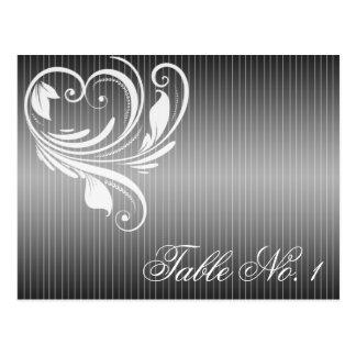 Nombre noir et blanc de Tableau de coeur de filet Carte Postale