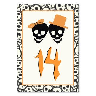 Nombre orange de table de mariage de Halloween de