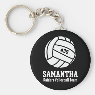 Nombre personnalisé de joueur de volleyball, nom, porte-clé rond