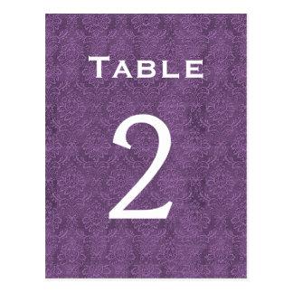 Nombre pourpre 2 C201 de Tableau de mariage Cartes Postales
