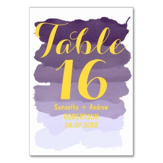 Nombre pourpre de table d'ombre d'aquarelle de