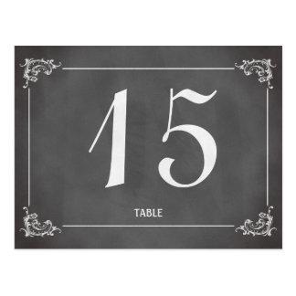 Nombre romantique vintage de table de mariage de t