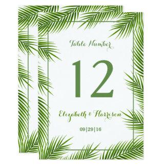 Nombre tropical de Tableau de mariage de plage de Carton D'invitation 12,7 Cm X 17,78 Cm