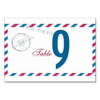 Nombre vintage de Tableau d'enveloppe de la poste