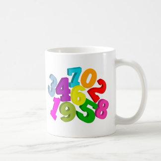 nombres de maths en couleurs mug