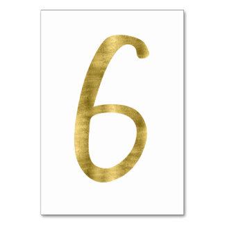 Nombres de Tableau avec l'effet numéro 6 de