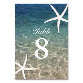 Nombres de Tableau de mariage de plage d'été