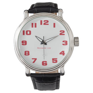 Nommez la montre de votre homme - rouge