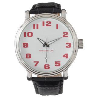 Nommez la montre de votre homme - rouge montres
