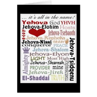 Noms d'art de Dieu-Souterrain Carte De Vœux