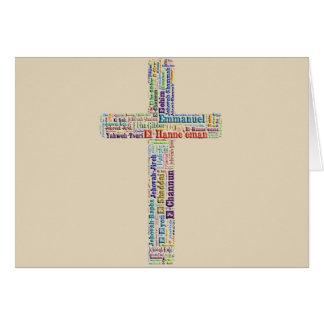 Noms de croix de Dieu Carte De Vœux