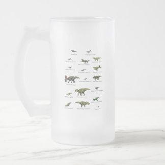 Noms de dinosaures frosted glass beer mug