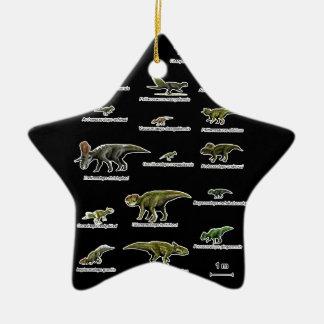 Noms de dinosaures ornement étoile en céramique