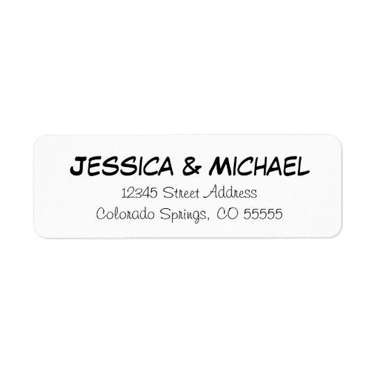 Noms élémentaires - étiquettes de adresse de