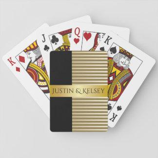 Noms personnalisés élégants de couples cartes à jouer