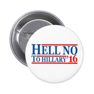 Non à Hillary '16 Badges
