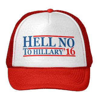 Non à Hillary de 'casquette 16 camionneurs Casquettes De Camionneur