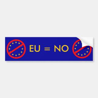 Non à l'UE Autocollant De Voiture