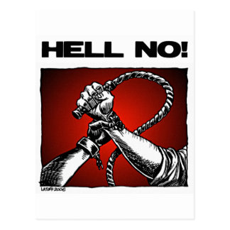 Non ! Anti art de discrimination d'esclavage Carte Postale