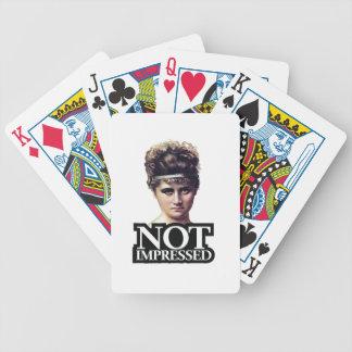 Non appliqué jeu de cartes