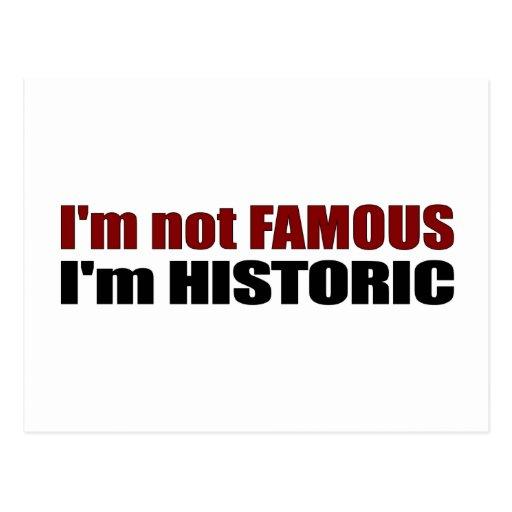 Non célèbre je suis historique carte postale