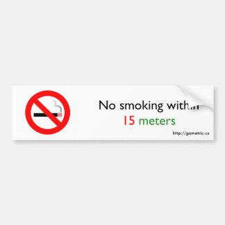 Non-fumeurs à moins de 15 mètres autocollant de voiture