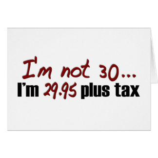 Non impôt 30 $29,95 plus carte de vœux