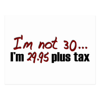 Non impôt 30 $29,95 plus carte postale
