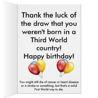 Non soutenu dans la carte d'anniversaire du tiers