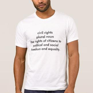 Non sur le T-shirt de droits civiques de l'appui