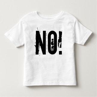 NON ! T-shirt fin du Jersey d'enfant en bas âge