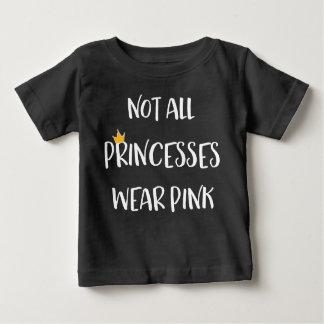 Non toutes les princesses Wear Pink T-shirt Pour Bébé
