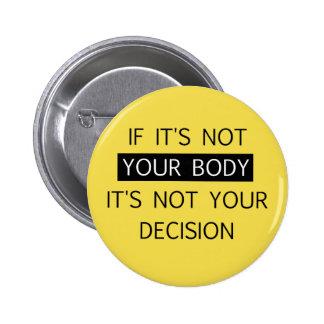 Non votre décision pin's